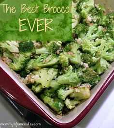 A quick & easy broccoli recipe for the Best Broccoli EVER! (Sub oven-dried, crumbled Alvarado Bakery sprouted wheat bread for read crumbs)