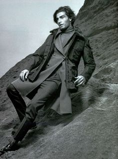 Andrea Nacci in Ermanno Scervino FW1516 total look ft. in L'Uomo Vogue Italia December #ScervinoEditorials #ErmannoScervino