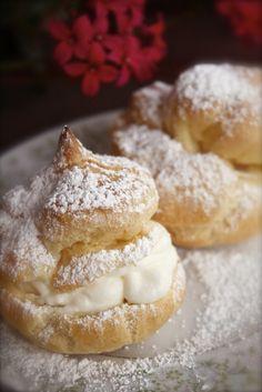Cream Puffs (ok to fill w/ham or shrimp salad instead of pudding)