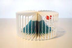 360 Degrees Stories Cut Into Paper Books – Fubiz™ Le designer et architecte japonais Yusuke Oono