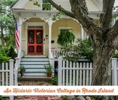 love these columns too! (Victorian Cottage Rhode Island)