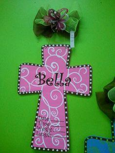 Cross Hospital Baby Birth Announcement Door by YorkCreations, $32.00