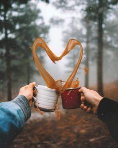 wow crATive photo coffee heart
