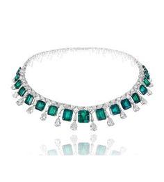 Chopard Emerauld, diamond and platinum collar