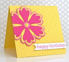 Happy Birthday Card by Michelle Leone for Papertrey Ink (March 2017)