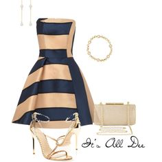 """Navy and Nude Formal"" by ddteach on Polyvore"