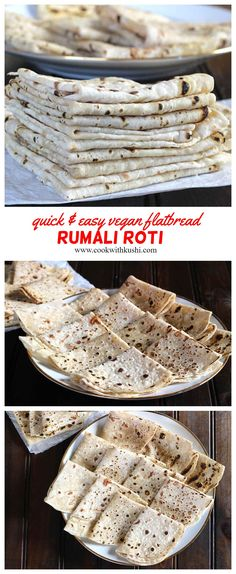 Rumali Roti is a vegan, soft and thin tasty flatbread popular across India. It is quick and super easy to make. It is prepared using combination of all purpose flour and wheat flour. This flatbread can be served with any curry or gravy of your choice. #dinnerecipe #roti #naan #nannbread #indianrecipes #veganrecipes #vegandinner #veganmeals #naanrecipe #indianvegetarianrecipes #butterchicken #vegetariandinnerrecipes #vegetarianmeals