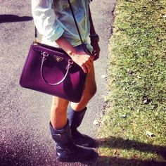 Gorgeous purple prada galleria bag