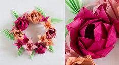 Origami : une fleur de lotus multiple