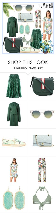 """summer fashion"" by kristeen9 ❤ liked on Polyvore featuring Bally, Vetements, Komono, Etro, Chanel, MINKPINK, Gucci, Kendra Scott and SHE MADE ME"