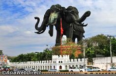 Erawan Museum - Bangkok. This one is just the 250 ton three-headed elephant. Ridiculous?