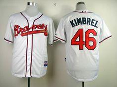 MLB ATLANTA BRAVES #46 KIMBREL WHITE COOL BASE JERSEY FJ