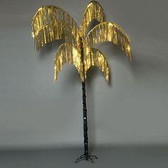 Vibrant Palm Tree - Gold