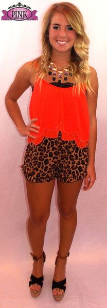 Red Scalloped Top $27.99