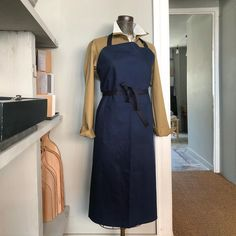 Freight HHG Heavy Cotton Apron with Brass Sliders and An Adjustable Neck Strap - Trouva Proper Job, Hard Wear, How To Wear, Aprons, Sliders, High Neck Dress, England, Brass Fittings, Dark Grey