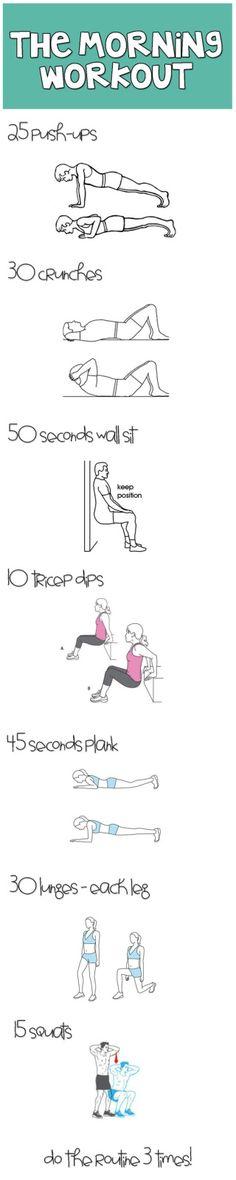 At Home Morning Workout- 30 mins MAX!