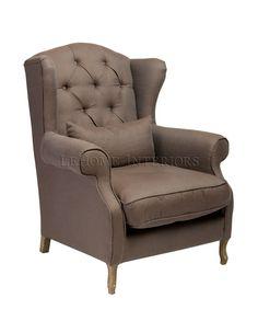 Кресло Bergere Chair, стиль прованс, состаренная мебель