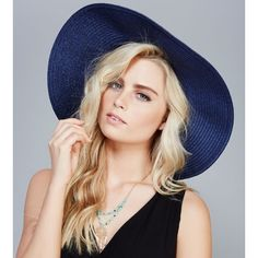NWT bow band floppy straw hat in navy Brand new Accessories Hats