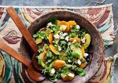 Салат с авокадо и мандаринами