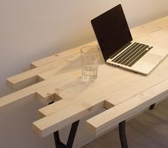 DIY tutorial: Build an Asymmetrical Wood Desk  via DaWanda.com