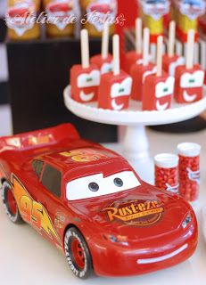 Atelier de Festas: Festa Carros Mcqueen Cake, Safari Party, Lightning Mcqueen, Disney Cars, Baby Party, 4th Birthday, Birthday Candles, Special Occasion, Birthdays