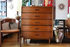 Rare Lane Acclaim Series MCM Tall Dresser- Did not know this existed from the series. LOVE IT