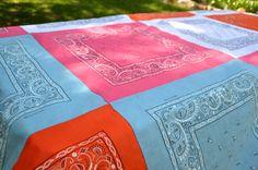 Bandana tablecloth, great for pinics, roadtrips~