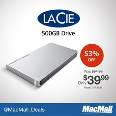 Store more for less on @LacieTech 500GB drive. Today at $45 OFF! #Deal