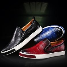 Mens Casual SlipOn Fashion Alligator Sneakers is part of Sneakers men fashion - For casual comfort and style look no further this upcoming season than the new BRUCEGAO slipon men's sneakers! Dress With Sneakers, Sneakers Fashion, Men's Shoes, Dress Shoes, Shoes Men, Men Dress, Casual Shoes, Men Casual, Exclusive Shoes