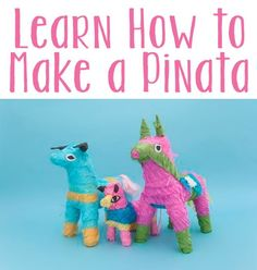 How to Make a Pinata - Next time you are planning a party or are just looking for a fun family activity, consider making your own pinata using one of these methods. (http://familycrafts.about.com/od/makeapinata/a/makepinata.htm)