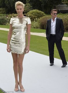 CharlizeTheron at Christian Dior  2014/2015 Haute Couture Fall-Winter fashion show