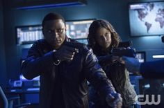 "Arrow -- ""Unthinkable"" -- Image AR223a_ 0238b -- Pictured (L-R): David Ramsey as John Diggle and Audrey Marie Anderson as Lyla -- Photo: Cate Cameron/The CW -- © 2014 The CW Network, LLC. All Rights Reserved."