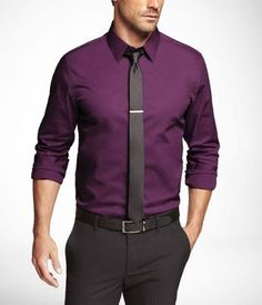 men's shirt color from Express - mystic purple