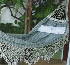lovely brazilian hammock...with a book, a breeze & a beverage.