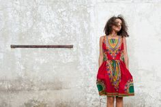 Colourful Ethnic Patterned Dress