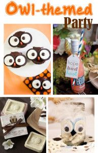 Owl Bridal shower or Party Ideas- I LOOVE the owl theme!