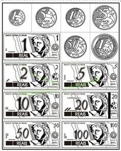 desenho de dinheiro para imprimir - Pesquisa Google