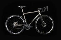 VAARU Cycles V:8 Di2 Titanium road bike is the ideal sportive, leisure bike. An all out racing bike, a hydraulic disc, Shimano Di2 specific road bike.