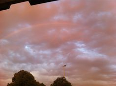 Pink Sky with a double rainbow :)