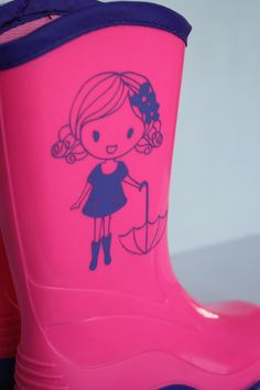 Update rain boots using your Silhouette CAMEO and Glossy Adhesive Vinyl.