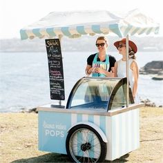 A Baby Gift Basket Can be a Perfect Present Ice Cream Stand, Ice Cream Cart, Mini Tortillas, Gelato, Mobile Kiosk, Food Cart Design, Bike Food, Flower Cart, Mobile Business
