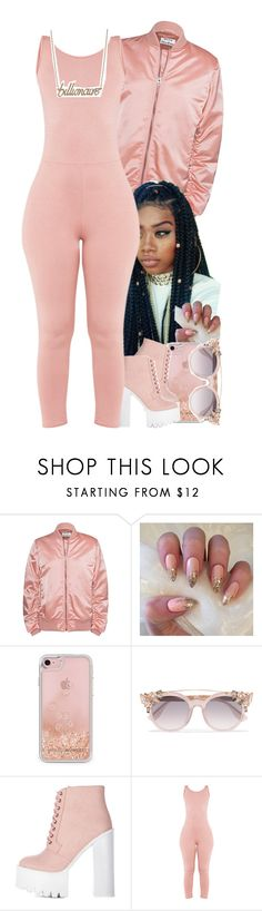 """""""Rose gold flow 🎟"""" by jchristina ❤ liked on Polyvore featuring Acne Studios, Rebecca Minkoff, Jimmy Choo and Anna Lou"""