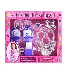 52c0f4acac PrettyGIRL- Fashion Dress Up Set with Accessories (Purple) Princess Dress  Up