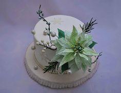 Christmas Themed Cake, Christmas Cakes, Holiday Cakes, Christmas Wedding, Christmas Time, Xmas, Winter Torte, Winter Cakes, Cake Art