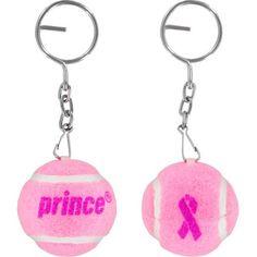 Prince Pink Ribbon Tennis Ball Key chain #breastcancerawareness