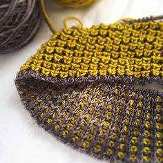 Tenchi by Olga Buraya-Kefelian, knitted by conniegg   malabrigo Rios in Frank Ochre and Nimbus Gray