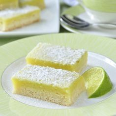 Lime Bars - 5 Ingredients, Super Easy!