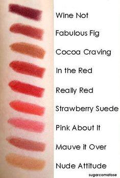 Revlon Lipstick Shade Chart pink about it. Must find! Revlon Lipstick Shades, Revlon Makeup, Makeup Swatches, Matte Lipsticks, Kiss Makeup, Beauty Makeup, Makeup Tips, Beauty Shots, Beauty Tips
