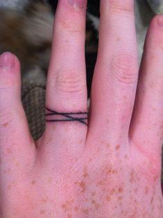 Ring tattoo idea: cord of three strands