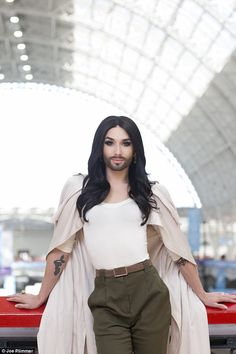Conchita Wurst: I like to be a woman on stage, and then a man in my private life   Read more: http://www.dailymail.co.uk/home/you/article-3072205/Eurovision-winner-Conchita-Wurst-couldn-t-care-people-s-opinions-feel-comfortable-like-this.html#ixzz3a5Rvu5V6 Follow us: @MailOnline on Twitter | DailyMail on Facebook